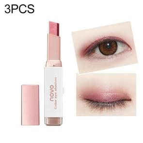 3 PCS Double Color Eyeshadow Stick Stereo Shimmer Color Eye Shadow Cream Pen Eye Makeup Palette Cosmetics(1#)