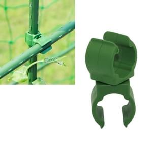 Rotary Buckle Gardening Plastic Bracket Support Universal Tube Clamp Plastic Buckle, Size:11 mm Diameter Pillar(Green)
