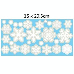 20 PCS Wall Stickers Electrostatic Window Glass Stickers Kerststickers (Snowflake B)