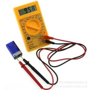 DT-830B Handheld Digital Multimeter Ammeter Voltmeter Digital Display Universal Tester Meter(Yellow)