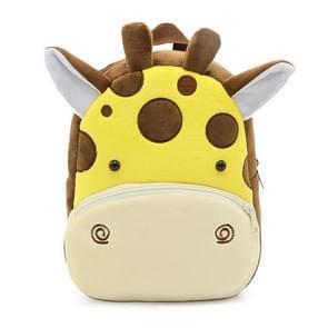 Kids 3D Animal Velvet Backpacks Children Cartoon Kindergarten Toys Gifts School Bags(Giraffe)