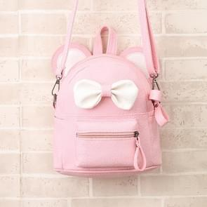 Cartoon Rugzak Dual-use Kinderen Cute Bow Small Backpack Schoudertas (Roze)