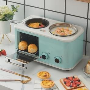 Multifunctionele 4-in-één Household Breakfast Bread Coffee Machine  Three-Pin CN Plug(Green)