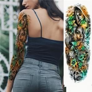 Grote arm mouw waterdichte tijdelijke tattoo sticker (TQB-010)