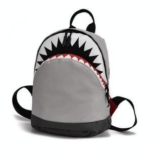Kids 3D Model Shark School Bags Kindergarten Children Canvas Backpack(S-Gray)