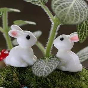 Lovely Resin Plants Rabbit Micro Landscape Succulent Ornaments Plant Decoration Garden DIY Doll