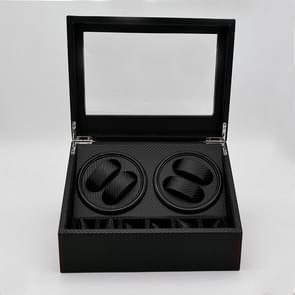 4 + 6 automatische rotatie Leather Watch Winder Display Case opbergdoos