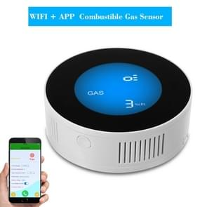 Wireless Gas Detector Alarm Leakage Sensor Natural Gas Leak Detector(Common On-site Audible and Vision Alarm)
