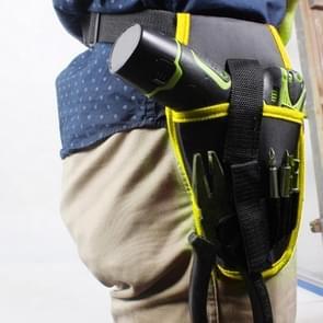 Draagbare draadloze boorhouder boor draadloze schroevendraaier taille power tool tas boor taille tool BOB DER BAUMEISTER Designfoil (geel)