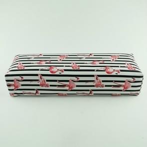 3 PC'S Stripe Flamingo design Nail Art hand kussen kussen zachte PU lederen spons arm rest (zwart)