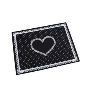 Nail Art salon manicure siliconen kussen hand houder kussen Lace tabel wasbaar opvouwbare mat (zwart)