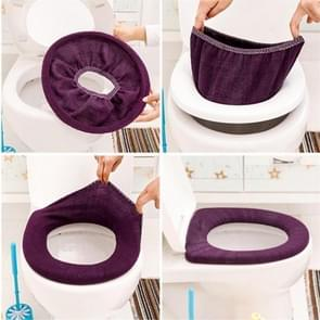 5 PCS O Sharpe Warm Soft Colorful Flocking Closestool Protector Toilet Cover Seat For Bathroom, Random Color Delivery