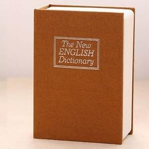 Mini Dictionary Safe Box Book Secret Security Lock Cash Money Coin Storage Jewellery key Locker(Yellow)