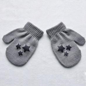 Stip ster hart patroon wanten kinderen handschoenen zacht breien warme wanten (grijze start)
