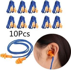 10 stuks zachte silicone gesnoerd oor pluggen oren beschermer herbruikbare gehoorbescherming ruisonderdrukking oordopjes