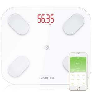 GASON S4 Body Fat Scale Smart Electronic LED Digital Weighing Scale with Bluetooth APP, Support Android or IOS(White)