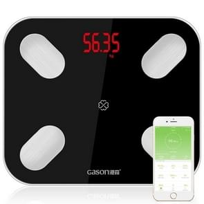 GASON S4 Body Fat Scale Smart Electronic LED Digital Weighing Scale with Bluetooth APP, Support Android or IOS(Black)