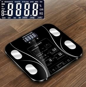 LCD Display Body Electronic Smart Weighing Scales Bathroom Scale Digital Human Weight Scales(Black)