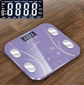LCD Display Body Electronic Smart Weighing Scales Bathroom Scale Digital Human Weight Scales(Purple)