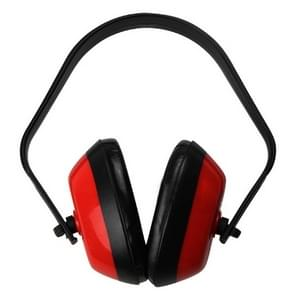 Anti-Noise Safety Work Sleep Hearing Protection Headphones Protective Earmuffs(Red)