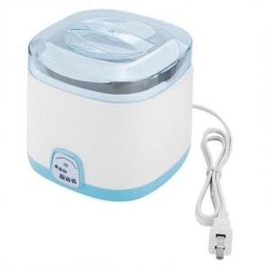 1L Electric Yogurt Maker Machine DIY Stainless Steel Inner Container Kithchen Appliance 220V(Blue)