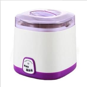 1L Electric Yogurt Maker Machine DIY Stainless Steel Inner Container Kithchen Appliance 220V(Purple)