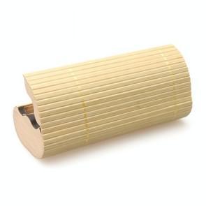 Bamboe zonnebril geval ovale milieubescherming bril zaak
