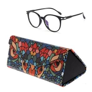 Opvouwbare driehoek dierlijke print bril zaak zonnebril Myopia frame geval (Chameleon)