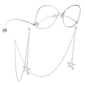 2 stks antislip metalen glazen hanger met parel hanger glazen ketting (zilver)