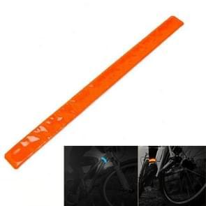 4 PCS Bike Bicycle Cycling Band Arm Leg Pant Reflective Strap Belt Safety Reflector(Orange)