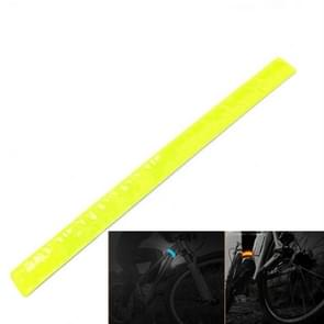 4 PCS Bike Bicycle Cycling Band Arm Leg Pant Reflective Strap Belt Safety Reflector(Yellow)