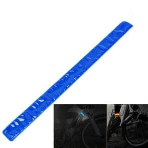 4 PCS Bike Bicycle Cycling Band Arm Leg Pant Reflective Strap Belt Safety Reflector(Blue)