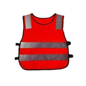 Safety Kids Reflective Stripes Clothing Children Reflective Vest(Red)