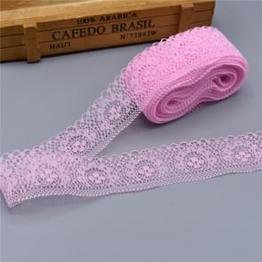 DIY Beautiful Embroidered Lace Ribbon Tape Decoration(Pink)