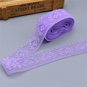 DIY Beautiful Embroidered Lace Ribbon Tape Decoration(Purple)