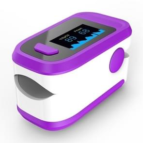 Finger Clip Oximeter Pulse Monitoring Home Pulse & Heart Rate Instrument (Purple&White)