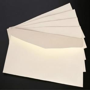 10 PCS Kraft Paper Envelope Message Card Letter Stationary Storage Paper Gift,Size: 22x11cm(White)