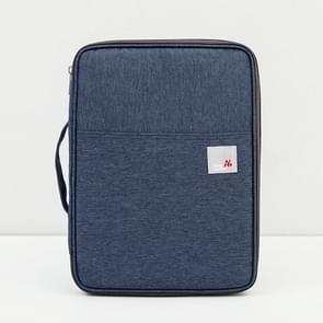 Multi-functional A4 Document Bags Portable Waterproof Oxford Cloth Storage Bag for Notebooks,Size: 33cm*24*3.5cm(Dark Blue)