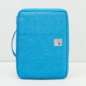 Multi-functional A4 Document Bags Portable Waterproof Oxford Cloth Storage Bag for Notebooks,Size: 33cm*24*3.5cm(Sky Blue)