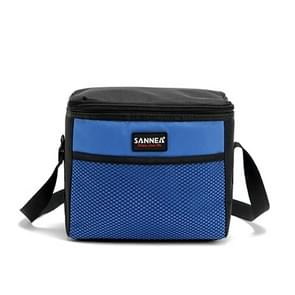 SANNE Picnic Lunch Bag Outdoor Thermos Portable Travel Shoulder Bag Recreation Tourism Equipment(Blue)