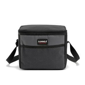 SANNE Picnic Lunch Bag Outdoor Thermos Portable Travel Shoulder Bag Recreation Tourism Equipment(Gray)
