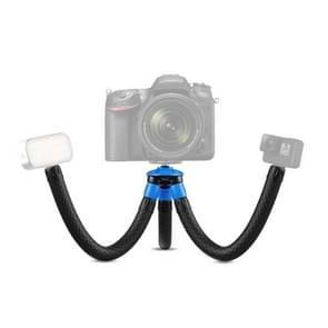APEXEL APL-JJ07 Draagbare slang Octopus Mini Mobiele Telefoon Gopro Camera Selfie Live Stand (Blauw Zwart)