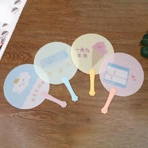 10 PCS Cartoon Summer Mini Portable Small Fan Plastic Portable Hand Fan  Color:Color and Pattern Random Delivery(531B)