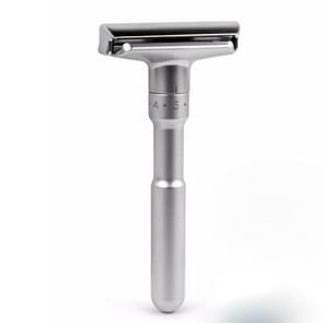 Adjustable Safety Razor Double Edge Classic Mens Shaving Hair Removal Shaver with 5 Blades(Sliver gray)