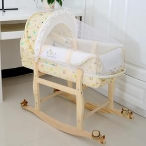 Newborn Baby Portable Sleeping Basket with Mosquito Net(Nature)
