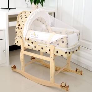 Newborn Baby Portable Sleeping Basket with Mosquito Net(Star)