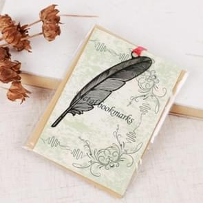 2 PCS Ferrous Metal Bookmarks Creative Stationery Gifts Feather
