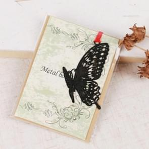 2 PCS Ferrous Metal Bookmarks Creative Stationery Gifts Butterfly