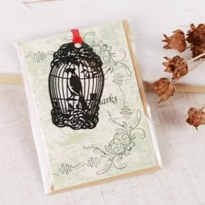 2 PCS Ferrous Metal Bookmarks Creative Stationery Gifts Bird Cage