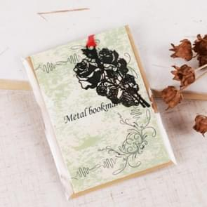2 PCS Ferrous Metal Bookmarks Creative Stationery Gifts Rose Flower
